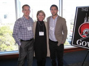 Dr. Brockman (middle) proudly standing with Josh Kapellusch (left) and Peter Sauska (right).