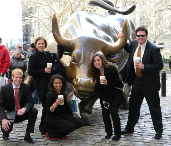 The group with the charging bull on Wall Street.