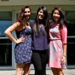 UTC College of Business student Lynna Nguyen (far right) with her dorm mates during a summer internship at Tudor Investment Corporation.