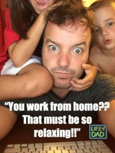 working from home dad meme