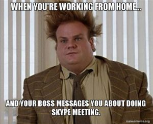 Skype Meeting Work from Home Meme
