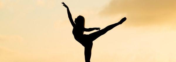 ballerina striking a pose