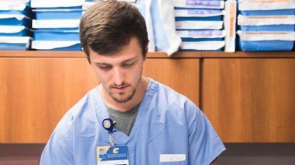 male nurse looking down