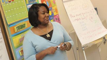 African-American female teaching elementary school