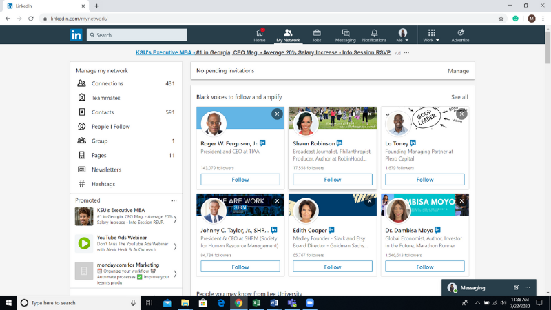 LinkedIn My Network