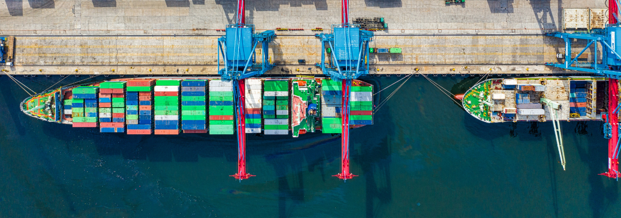 ship at loading dock