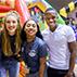 Photo of students at Oak Street Roast