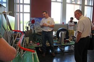 Rube Goldberg machine demonstration by senior Andrew Mowrer.