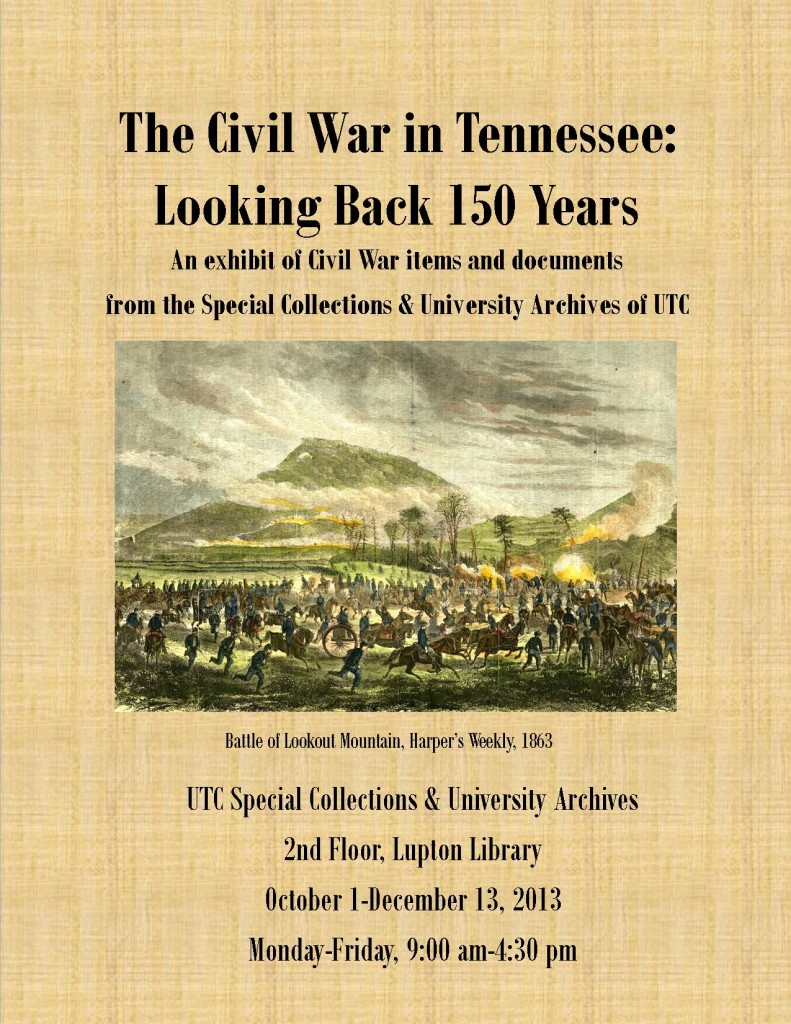 Celebrate the centennial anniversary with our new exhibit, The Civil War in Tennessee: Looking Back 150 Years.