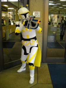 Brady Roberson as Commander Cody/Star Wars clone trooper (yes that is a & Halloween Costume Contest Winners   UTC Library