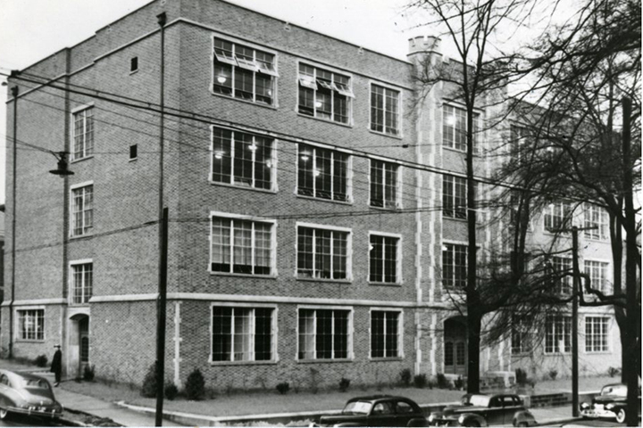 Brock Hall. Photo courtesy of Special Collections & University Archives, UTC Library, The University of Tennessee at Chattanooga.