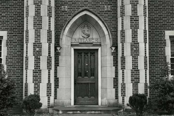 Fletcher Hall still bears the unmistakable signs of having been home to the university's library in days past. Photo courtesy of Special Collections & University Archives, UTC Library, The University of Tennessee at Chattanooga.