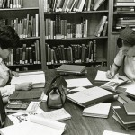 Students studying, without laptops! Photo courtesy of Special Collections & University Archives, UTC Library, The University of Tennessee at Chattanooga.