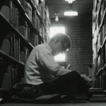 Students then and now find study space wherever the can. Photo courtesy of Special Collections & University Archives, UTC Library, The University of Tennessee at Chattanooga.
