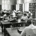 Students hard at work in the library in Fletcher Hall. Photo courtesy of Special Collections & University Archives, UTC Library, The University of Tennessee at Chattanooga.