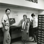 The library's catalog goes online! Photo courtesy of Special Collections & University Archives, UTC Library, The University of Tennessee at Chattanooga.