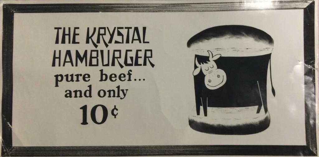 Krystal burgers advertisement.