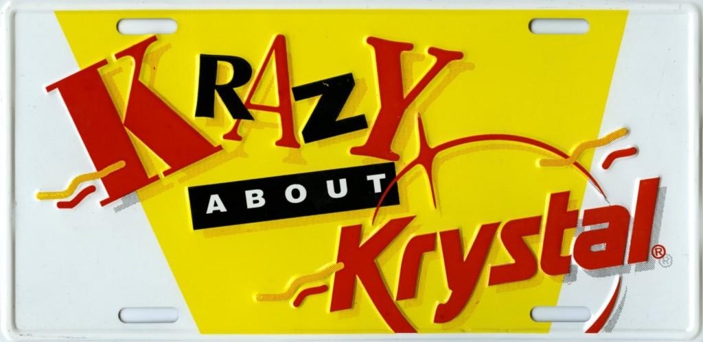 Krystal license plate
