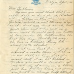 First page of an April 11, 1941 letter from Leroy Sullivan to a few of his friends. Letter courtesy of Special Collections & University Archives, UTC Library, The University of Tennessee at Chattanooga.