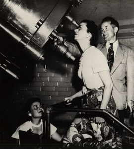 Students in the Clarence T. Jones Observatory.