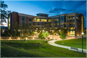 UTC Library at night