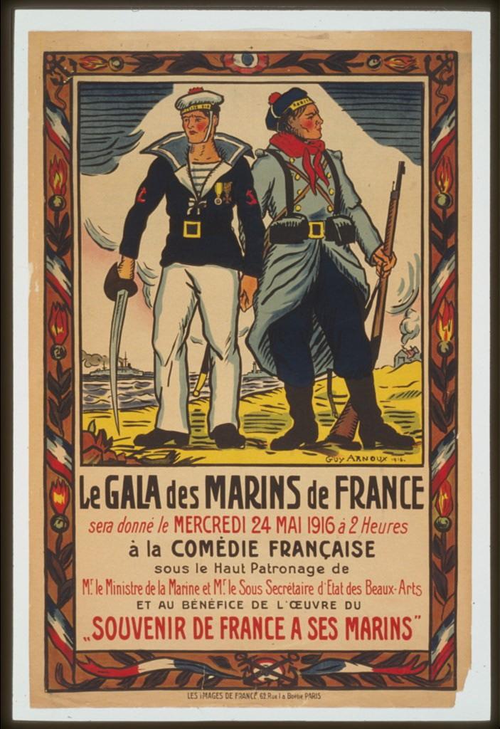 Le gala des marins de France . . . á la Comédie Française