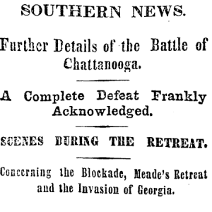 newsclipping battle of chattanooga