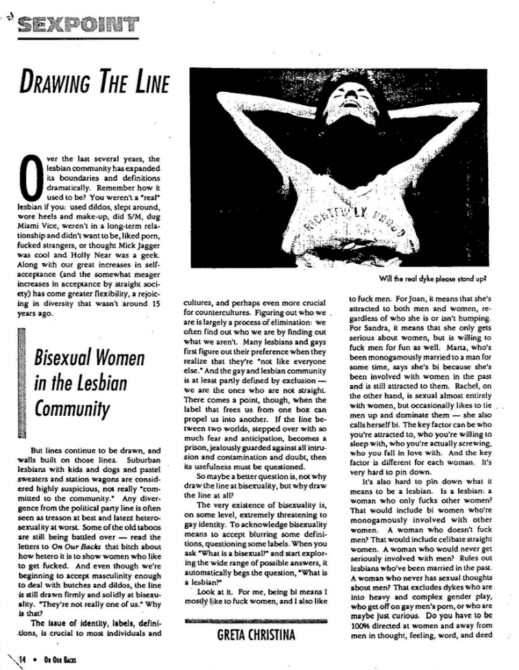 Reports on Bisexuality from the Lesbian Herstory Archives cover