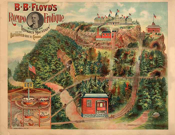 B. B. Floyd's Rompo Frolique A trip to Lookout Mountain and the Battlefield Above the Clouds poster