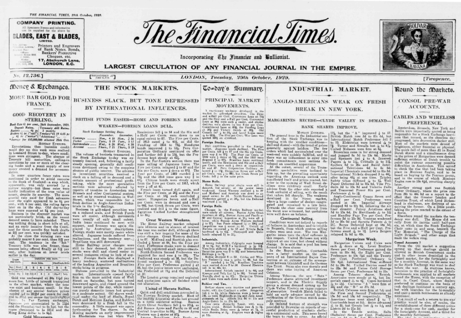 Financial Times Historic Archive | UTC Library
