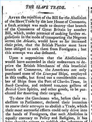 news clipping slave trade and the somerset case