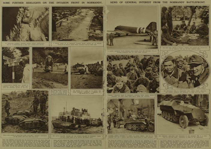 images from Normandy at the end of WWII