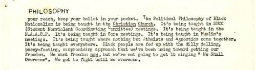Black fist, vol.1, no. 8, page 5. Courtesy of the University of Tennessee at Chattanooga Special Collections.