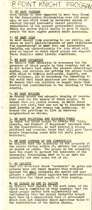 Black united front, vol.1, no. 17, page 5. Courtesy of the University of Tennessee at Chattanooga Special Collections.