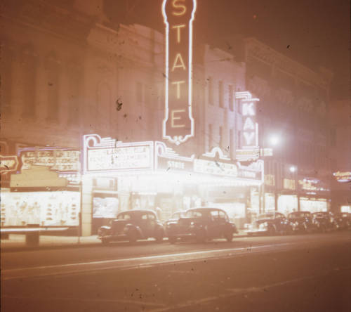 State Theater eye-level view, circa 1960s. Courtesy of the University of Tennessee at Chattanooga Special Collections.