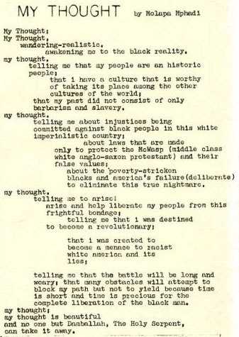 Black united front, vol.1, no. 17, page 2. Courtesy of the University of Tennessee at Chattanooga Special Collections.
