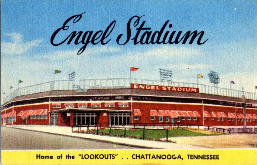 Engel Stadium postcard, circa 1945