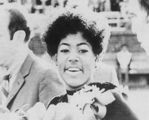Image of Phyllis Marie White, the first black Homecoming Queen at UTC