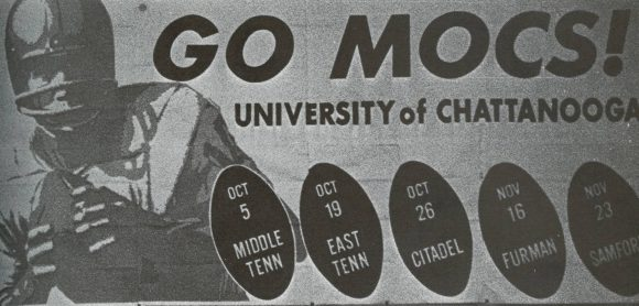 A partial schedule for the 1968 University of Chattanooga football season.
