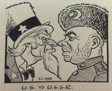Tennessee Valley Authority and Cold War political cartoon, undated