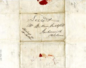 Mary Lumpkin correspondence with William Crutchfield, 1845 December 19. Courtesy of the Chattanooga Public Library and University of Tennessee at Chattanooga Special Collections.