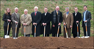 Groundbreaking at new UTC library.