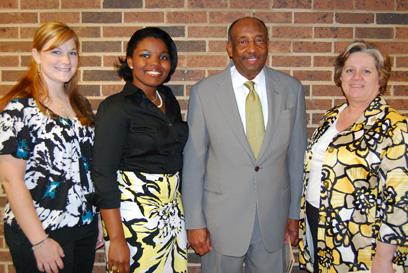 From left: Cameron Buchanan, GSA Secretary/Treasurer; Raven Worthy, GSA Vice President; Dr. Roy Keith, speaker; Dr. Stephanie Bellar, GSA Faculty Advisor