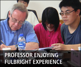 Professor enjoying Fulbright experience