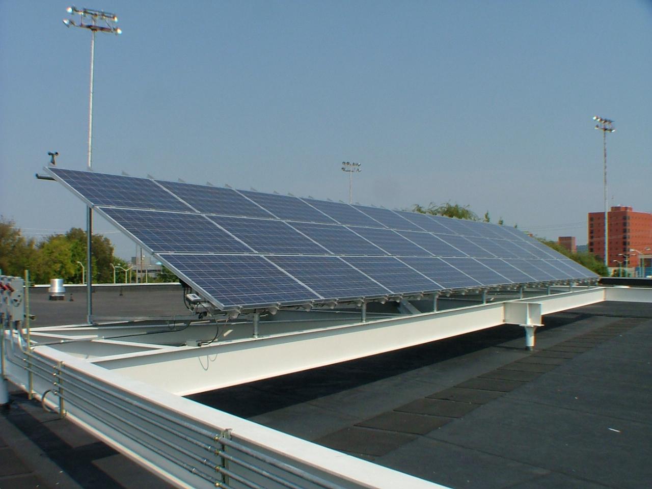 Solar Panels Installed On Challenger Stem Learning Center
