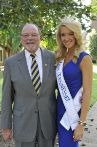 Chancellor Roger Brown and Miss Tennessee Chandler Lawson
