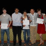 In the Senior Category, winners from left:  Nick Peck, Suhail Arora, Quang Tran, Billy Yeung, Emily Horton