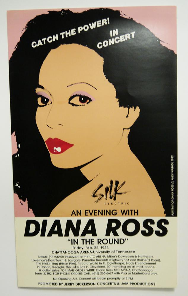 Poster advertising a Diana Ross concert at UTC McKenzie Arena