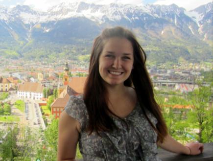 Sarah Gardner in Innsbruck, Österreich during her study abroad experience