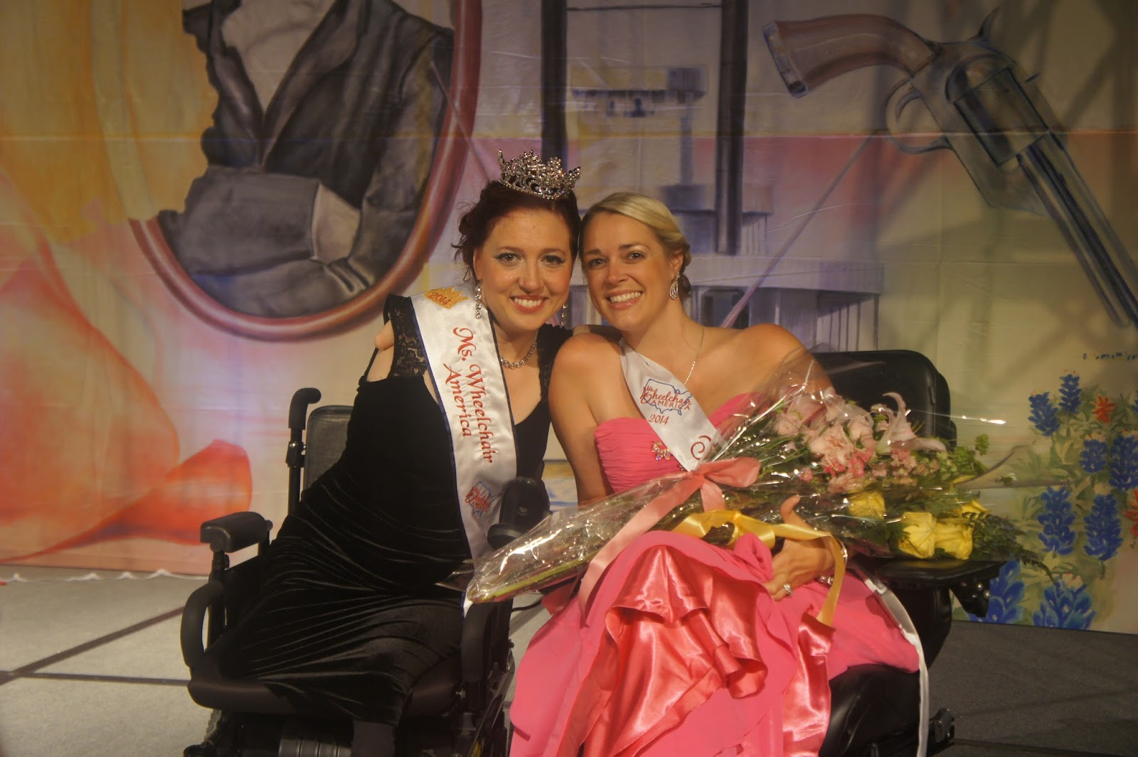 Bliss, right, with Jennifer Adams, Ms. Wheelchair America 2014